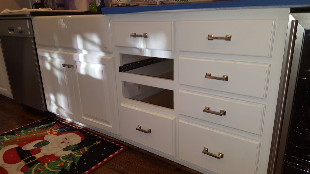 New drawers finished and installed with soft close sliders