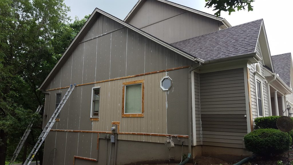 Saints Painting Company siding and wood rot replacement