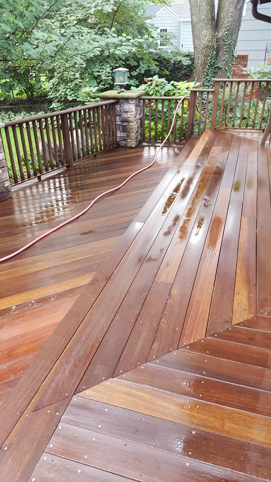 Saints Painting Company exotic deck refinish
